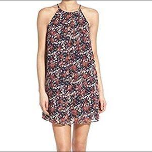 LUSH • Floral Print Mini Shift Pleated Dress